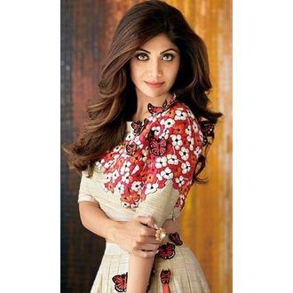 Shilpa Shetty Style OffWhite Butterfly Bollywood Style Lehenga