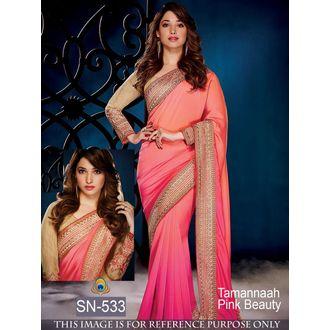 Tamanna Bhatia Pink Color Pure Pedding Bollywood Saree