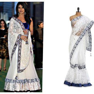 Priyanka Chopra White Net Lehenga
