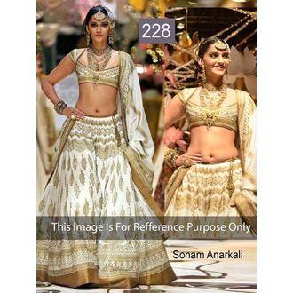 Sonam Kapoor Off white bridal heavy gold embroidered Lehenga