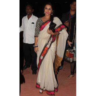 Vidya balan hot white saree at stardust award