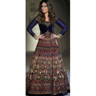 Navy Blue Designer Bollywood Style Kareena Kapoor Lehenga Choli