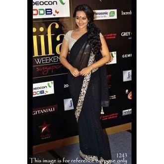 Sonakshi Sinha in Black Designer Saree