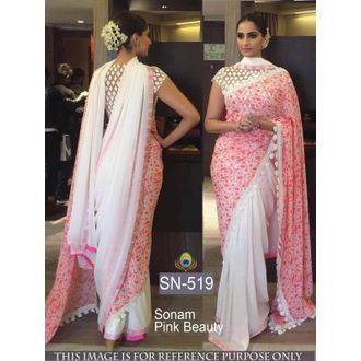 Sonam Pink Beauty 60G Georgette Bollywood Saree