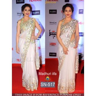Madhuri IFFA Award Net Bollywood Saree