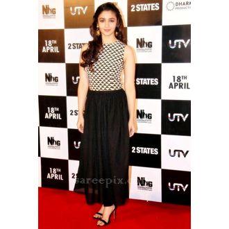 Alia Bhatt Designer Black Stitched Gown