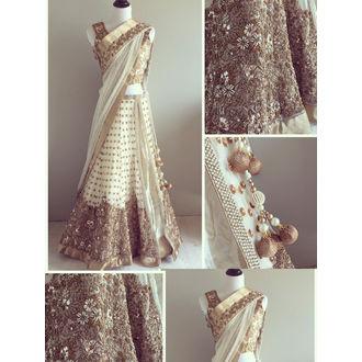 Panel Style Lehenga Choli with Dupatta Beads Work