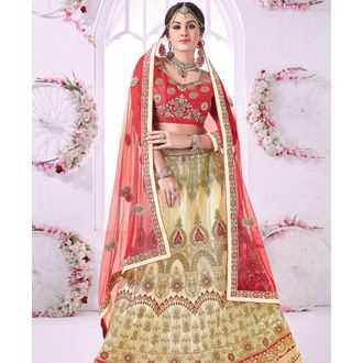 Banglori Silk Lehenga Choli with Zari Embroidery