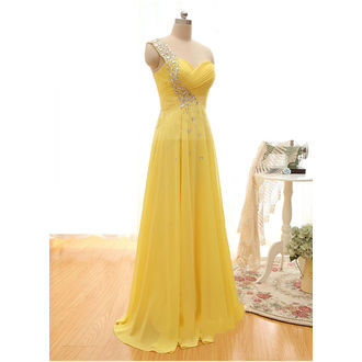 Yellow Georgette Gown