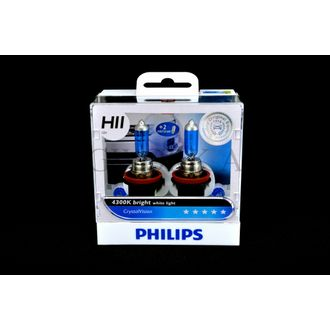 Philips CrystalVision 4300K bright white light for style upgrade- H11/ H8 55w
