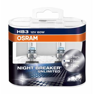 Osram HB3 P9005 Night Breaker Unlimited Duo Box (12V, 60W) pair