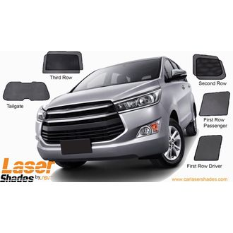 LASER Magenetic  shade curtains for toyota innova crysta set of 7 pcs