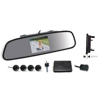 gear x reverse parking sensor with camera and mirror disply screen 4.3 inches