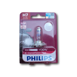 Philips X-treme Vision plus+130% Headlight Bulbs H7 12V 55W -- 2 PCS