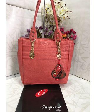 Impress  Handbag (Pink) - MEST10974