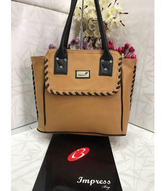 Impress  Handbag (Brown) - MEST10976