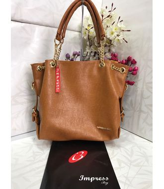 Impress  Handbag (Brown) - MEST11017