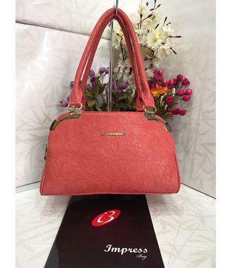 Impress  Handbag (Salmon) - MEST11020