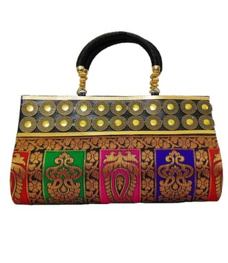 FabSilk Multicolor  Party Clutch - HWIT1321