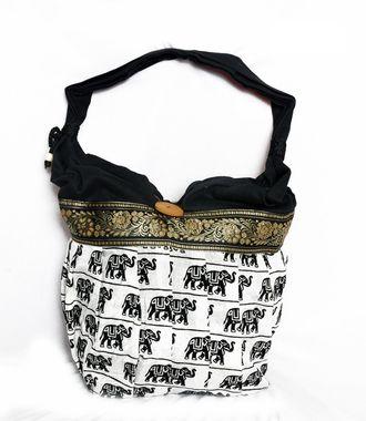 Ethnic Rasa White Ethnic Handbag - HWIT1403