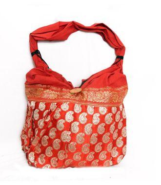 Ethnic Rasa Red Ethnic Handbag - HWIT1407