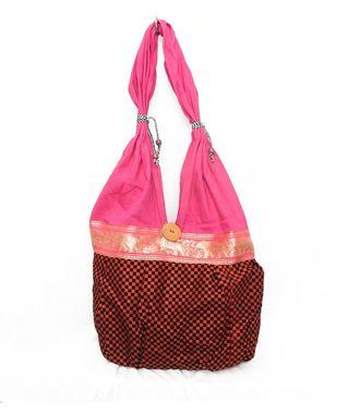 Ethnic Rasa Red Ethnic Handbag - HWIT1413