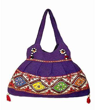 Ethnic Rasa Blue Ethnic Handbag - HWIT1418
