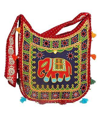 Ethnic Rasa Multicolor Ethnic Handbag - HWIT1420