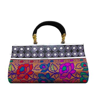 FabSilk Multicolor Party Clutch - HWIT1628
