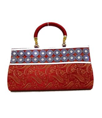 FabSilk Red Party Clutch - HWIT1632