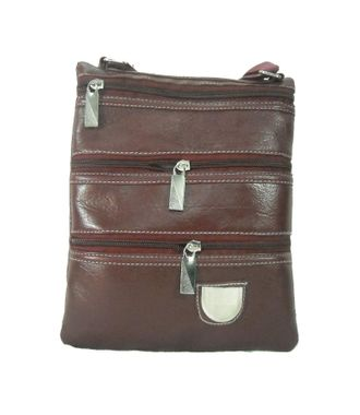 BG Shoppe Brown Multi-Pocket Sling Bag - HWIT1700