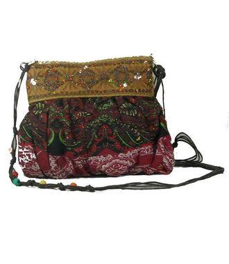BG Shoppe Red Ethnic Sling Bag - HWIT1704