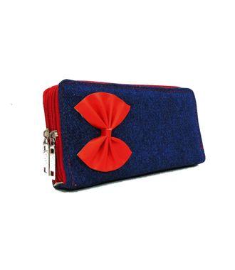 BG Shoppe Blue  Denim Pouch Clutch - HWIT2210