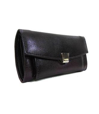 Walletz Black  Leather Clutch - HWIT2228
