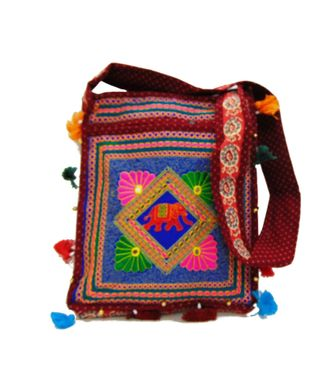 Ethnic Rasa Red  Ethnic Bag - HWIT2289