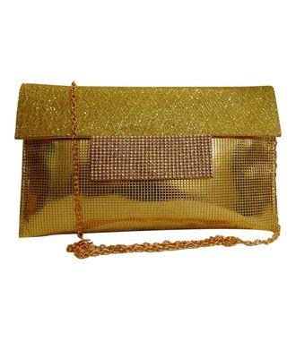 Fabsilk Gold Clutch - MEST6115