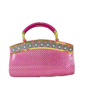 FabSilk Pink Party Clutch - HWIT800