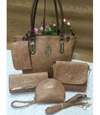 Designer Replica  Handbag - Combo of 5 (Brown) - MEST9027