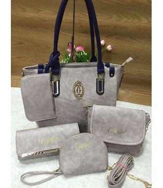 Designer Replica  Handbag - Combo of 5 (White) - MEST9029