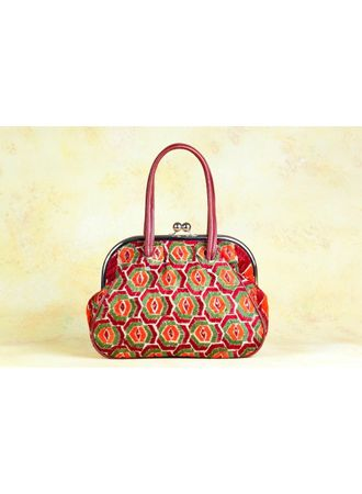 Phulkari Retro Handbag - design B