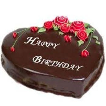 5 Star Heart Shaped Chocolate Cake
