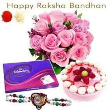 Pink Rakhi Combo
