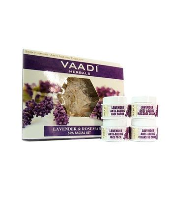 Lavender Anti Ageing SPA Facial kits with Rosemay Extract