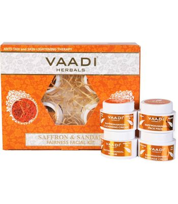 Saffron Skin- Whitening Facial kits with Sandle wood Extract
