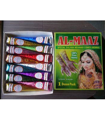 Al - Maaz Special Dulhan Mehandi Cones ( 30gms x 12 pcs )