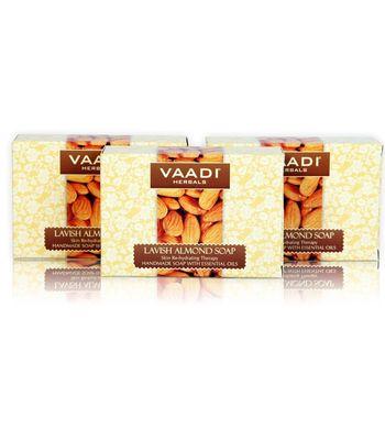 Lavish Almond Soaps (75gm x 3)