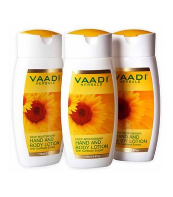 HAND & BODY LOTION WITH SUNFLOWER EXTRACT SET OF 3