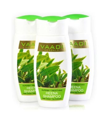 Superbly Smoothing HEENA SHAMPOO with Green Tea Extracts
