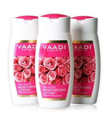 MOISTURISING LOTION WITH PINK ROSE EXTRACT (110mlx3)