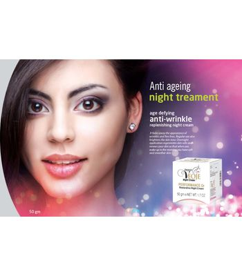 Age defying Anti wrinkle Replenishing Night Cream
